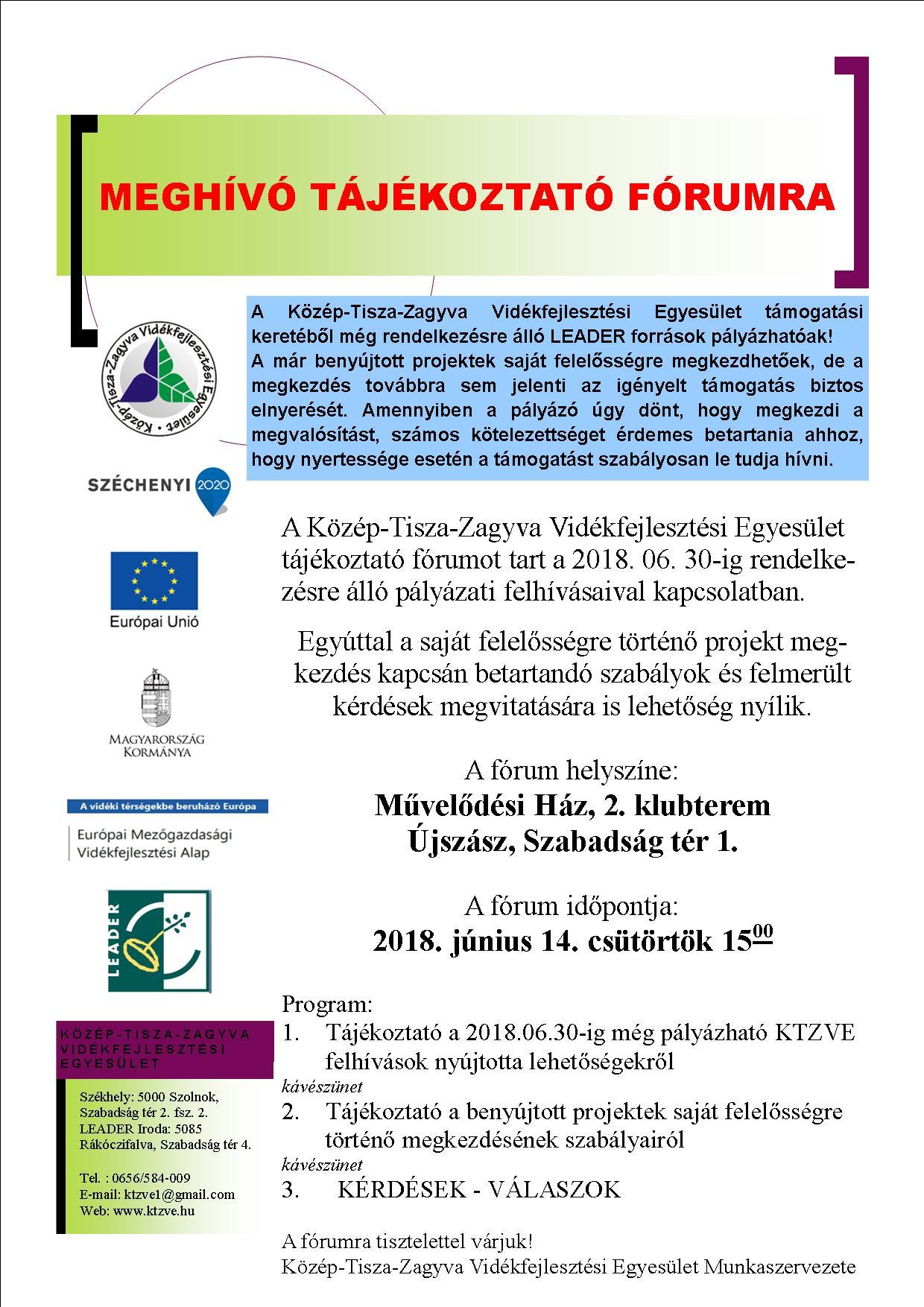 4f89c12263 Közép-Tisza-Zagyva Vidékfejlesztési Egyesület